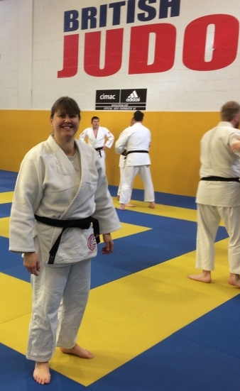 Debbie at the British Judo Centre of Excellence Dojo
