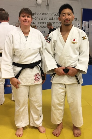 Debbie with Yusuke Kanamaru San, (Japanese Olympic Judo Team Coach for the 2020 Olympics)