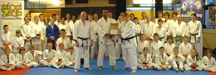 This is when we received the Sport England Club Mark Achievement Award in September 2008, presented to us by Densign White, Chairman BJA